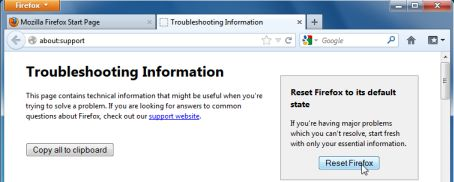 Picture of Reset Firefox to its default settings