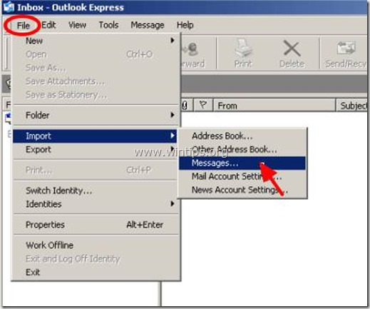 outlook express file-import-messages