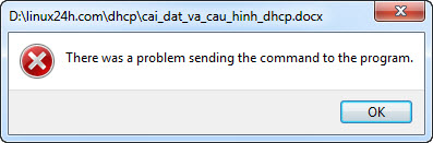 "Fix lỗi ""There was a problem sending the command to the program"""