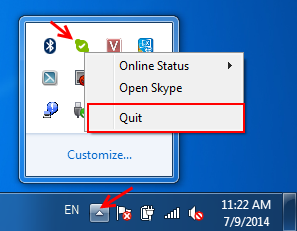 We can't open Skype. You are already signed in on this computer