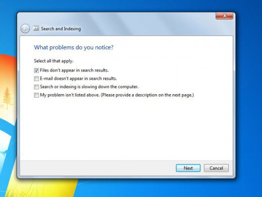 Fix Windows 7 Search Not Working