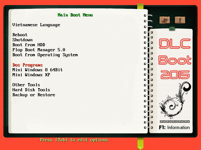 Menu usb boot DLC