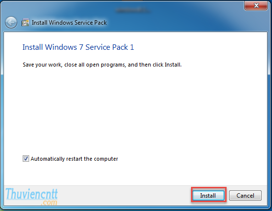 Download Windows 7 Service Pack 1 (SP1) - Cài đặt SP1 windows 7 32 bit 2