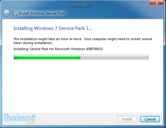 Download Windows 7 Service Pack 1 (SP1) - Cài đặt SP1 windows 7 32 bit 3