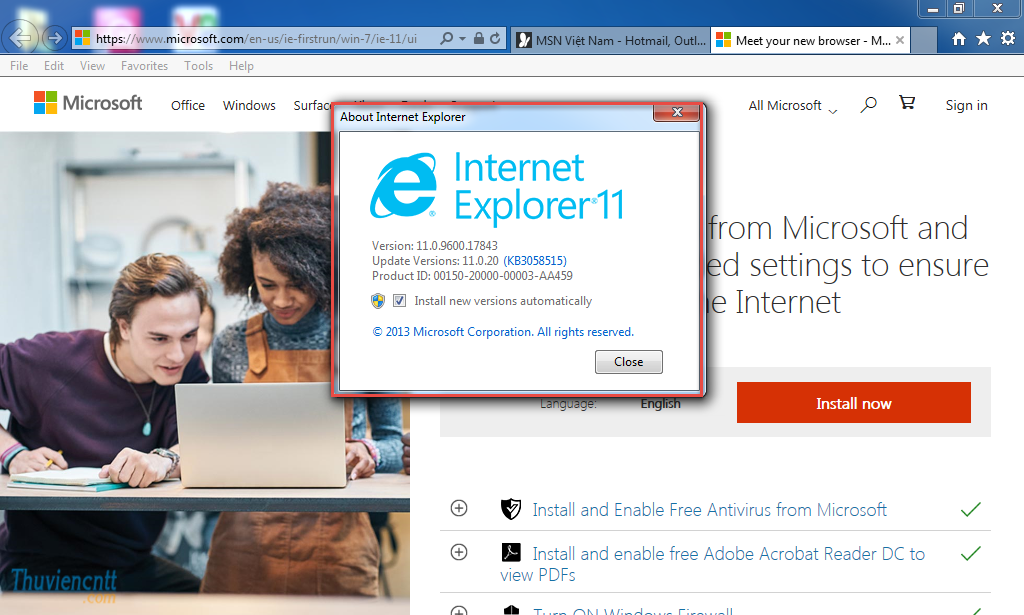 Download IE 11 - Tải Internet Explorer 11 cho windows 7 4