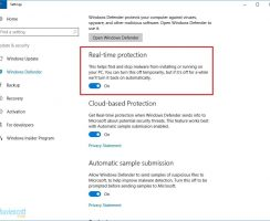 Tắt Windows defender windows 10 tạm thời bằng windows setting