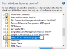 Khắc phục lỗi share file require SMB2 or higher trên windows 10 4