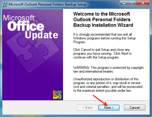 Microsoft Outlook Personal Folders Backup tool - Auto Backup mail outlook